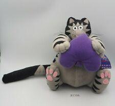 "B Kliban Cat B1106 Heart Plush 7"" Animal Stuffed TAG Toy Doll japan"