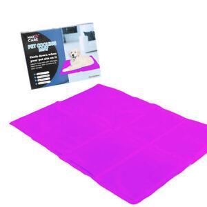 Dog Cat Pet cooler Cooling Cool Gel Mat Bed Pad 60 x 44cm Pink