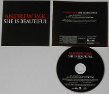 Andrew WK  She is Beautiful  2002 U.S. promo cd  hard-to-find