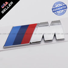 Chrome M Series Emblem Badge Car Rear Trunk Refit Decoration Accessories ABS C1
