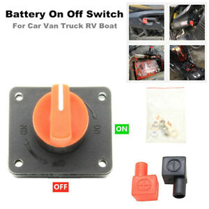 Battery Switch Car Van RV Boat Power Disconnect On Off Rotary Isolator Kit 300A