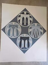 "Robert Indiana ""Brooklyn Bridge ""  1971 Serigraph Hand Signed & Numbered Decade"