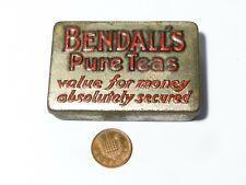 More details for antique bendall's pure teas sample size advertising tin - vesta match safe