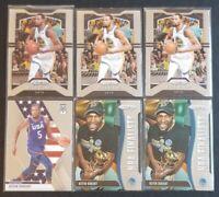 Lot (6) KEVIN DURANT 2019-20 Panini Prizm Brooklyn Nets Mosaic NBA Finalists