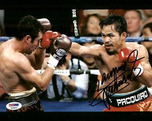 "Manny Pacquiao Autographed Signed 8x10 Photo ""Pacman"" PSA/DNA #Q18806"