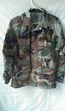 Authentic used army coat , men's small camo jacket ,  woodland combat pattern