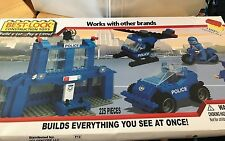 Best-Lock 225 Piece Construction Toy, Police, Blue, Works With Lego, New in Box