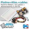 Pack platine d'essai 400 pts + Alimentation MB-102 + 65 cables Mâle/Mâle Arduino