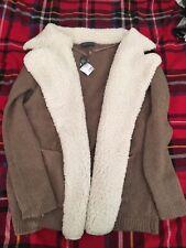 Primark Oversized Chunky Knit Fleece Cardigan Size Small