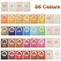 Mica Powder, DEWEL 36 Colors Epoxy Resin Dye Pearl Pigment Natural Mica Mineral