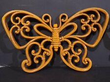 (LOT OF 3) Vintage Homco Home Interior Wall Hanger Plastic Butterflies 7557 7537