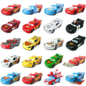 Disney Pixar Cars No.95 Lightning McQueen Toy Car Model 1:55 In Stock #1