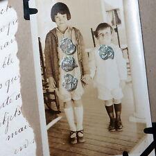 2pc Set TINY FRENCH BLUE SILK ROSETTE FLOWER RIBBONWORK Antique DOLL DRESS Bear