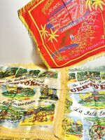 3 Vintage Puerto Rico Pillow covers Enchanted Island WWII