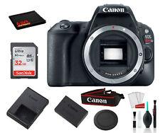 Canon EOS Rebel SL2 Digital SLR Camera (Black, Body Only) With Accessory Bundle