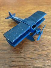 Vintage Tootsietoy Wings Biplane Dark Blue w 00006000 ith Pontoons