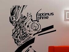 Transformers Wall Sticker Optimus Prime Vinyl Decal Movie Art Bedroom Decor 5egt