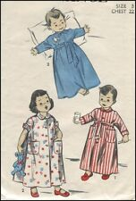 1950s Vintage Robe Long or Short Sleeves Sewing Pattern Boy Girl Child T 3