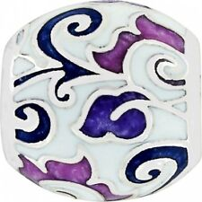 New Brighton DAMASCUS Silver Purple Lavender White Bead Charm MSRP $17