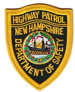 NEW HAMPSHIRE HIGHWAY PATROL DEPARTMENT OF SAFETY POLICE PATCH NH
