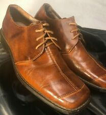 Fratelli Select Brown Oxford Quality Leather Lace Up Dress Shoes Men - Size 9 M
