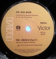 THE RAH BAND 45RPM SINGLE VINYL RECORD THE CRUNCH (PART 1) 1977