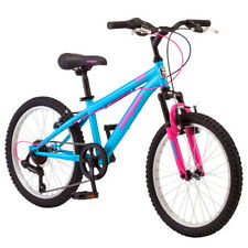 "20"" Mongoose Byte Girls 7 Speed Suspension Mountain Bike Steel Frame Bicycle New"