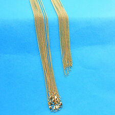 Wholesale 10X Making Jewelry 18K Gold Filled Flat Curb Necklaces Chains Pendants