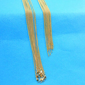 5X Wholesale Making Jewelry 18K Gold Filled Flat Curb Necklaces Chains Pendants