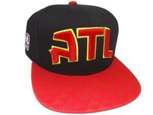 New Atlanta Hawks Adidas Mens Size OSFA Flatbrim Snapack Hat $26