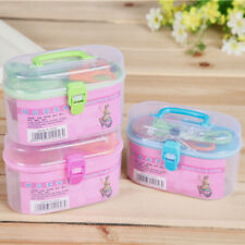 Threader Needle Thread Tape Measure Scissor Thimble Storage Box Sewing Kits Hot