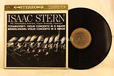 """Isaac Stern Violin - Tchaikovsky D Major/Mendelssohn E Minor, Record 12"""" VG"""