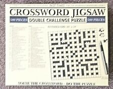 B/NewPAST TIMES DOUBLE CHALLENGE 500 PIECE CROSSWORD JIGSAW  SECRET SANTA PRESSY