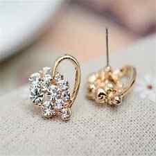 Sweet Party Charming Delicate Women Elegant Crystal Heart Ear Stud Earrings FT88