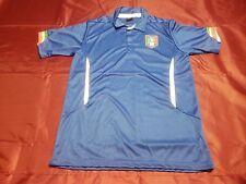 Italy Mens Blue Italia Azzurri Figc Football Polo Shirt Top Size Medium