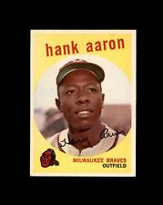 New listing 1959 TOPPS #380 HANK AARON BRAVES NM to NM+