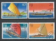 1977 FIJI CANOES SET OF 4 FINE USED/CTO