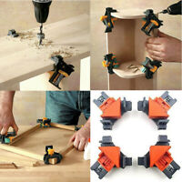 4PCS 90° Right Angle Corner Clamp Clip Fixer Ruler Woodworking Hand Tool Kits