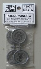 ROUND WINDOW HO 1:87 SCALE LAYOUT DIORAMA TICHY TRAINS 8037