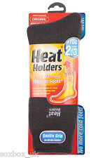 Mens Original Thermal Heat Holder Socks size 6-11 Uk, 39-45 Eur, Charcoal