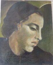 HONGRIE PORTRAIT DE FEMME HST SIGNE  33 x 41 cm