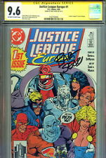CGC SS 9.6 Justice League Europe #1 SIGNED Bart Sears Power Girl Wonder Woman