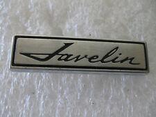 """JAVLIN Emblem Trim Script Metal Badge Vintage Ornament Nameplate Pennant brand"