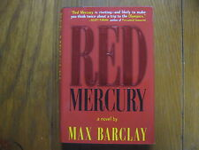 "MAX  BARCLAY(BEN SHERWOOD) Signed  Book(""RED MERCURY""-1996 1st Edition Hardback)"