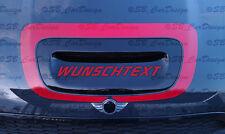 Lufthutzen Air Scoop Aufkleber Motorhaube f. BMW MINI COOPER S R56 GP Works Jack