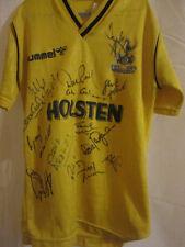 Tottenham 1993-1994 squad signé home football chemise avec coa / 3570