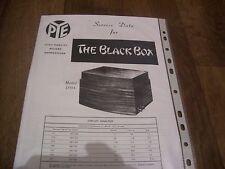 """PYE """" THE BLACK BOX """" DATA SHEETS. 4 no."""