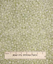 "Riverwoods Winter Magic Christmas Snowflake Cotton Fabric  29""  Toss Cream Green"