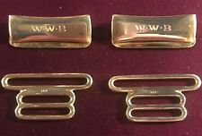 Hardware Set for Braces or Suspenders Antique Tiffany & Co. 14K Yellow Gold
