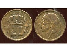 BELGIQUE 20 centimes 1963  ( belgique )  ( bis )